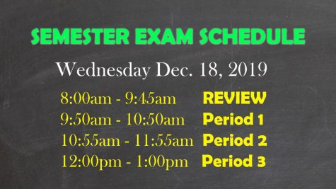 12/20/19 Final Exam Schedule Day 3
