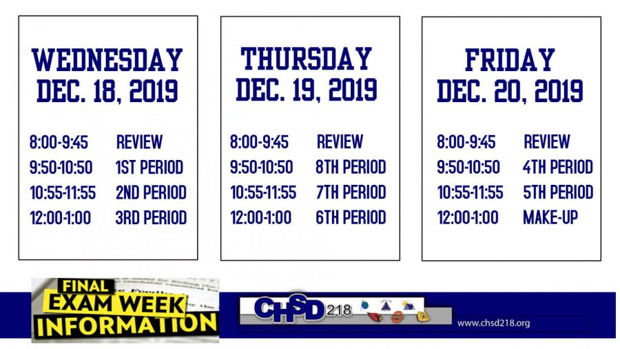 12/20/19 Final Exams Schedules